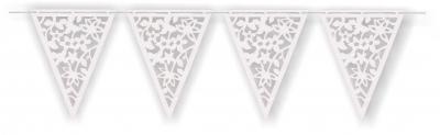Banderín Calado Blanco PVC