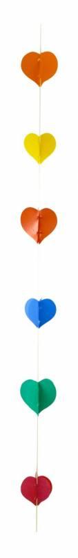 Hanging lineal con corazon multicolor