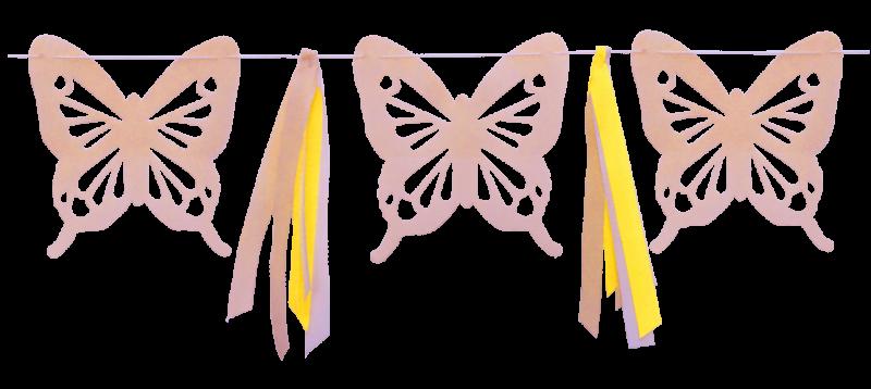 Mariposa Gigante Nude con Cintas